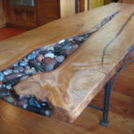 Shiny reclaimed wood furniture by Manomin Resawn Timbers