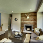 Weather antique reclaimed wood paneling on wall