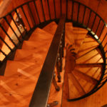 Stairwell of timber
