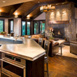Rustic elegance and fireplace mantel