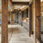 Posts of antique timbers