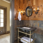antique wormy chestnut wall paneling