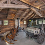 Beams of antique timbers