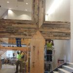 Antique oak reclaimed wood paneling