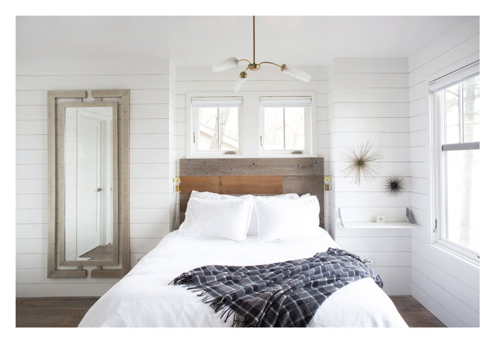 Bedroom in Repurposed Cabin