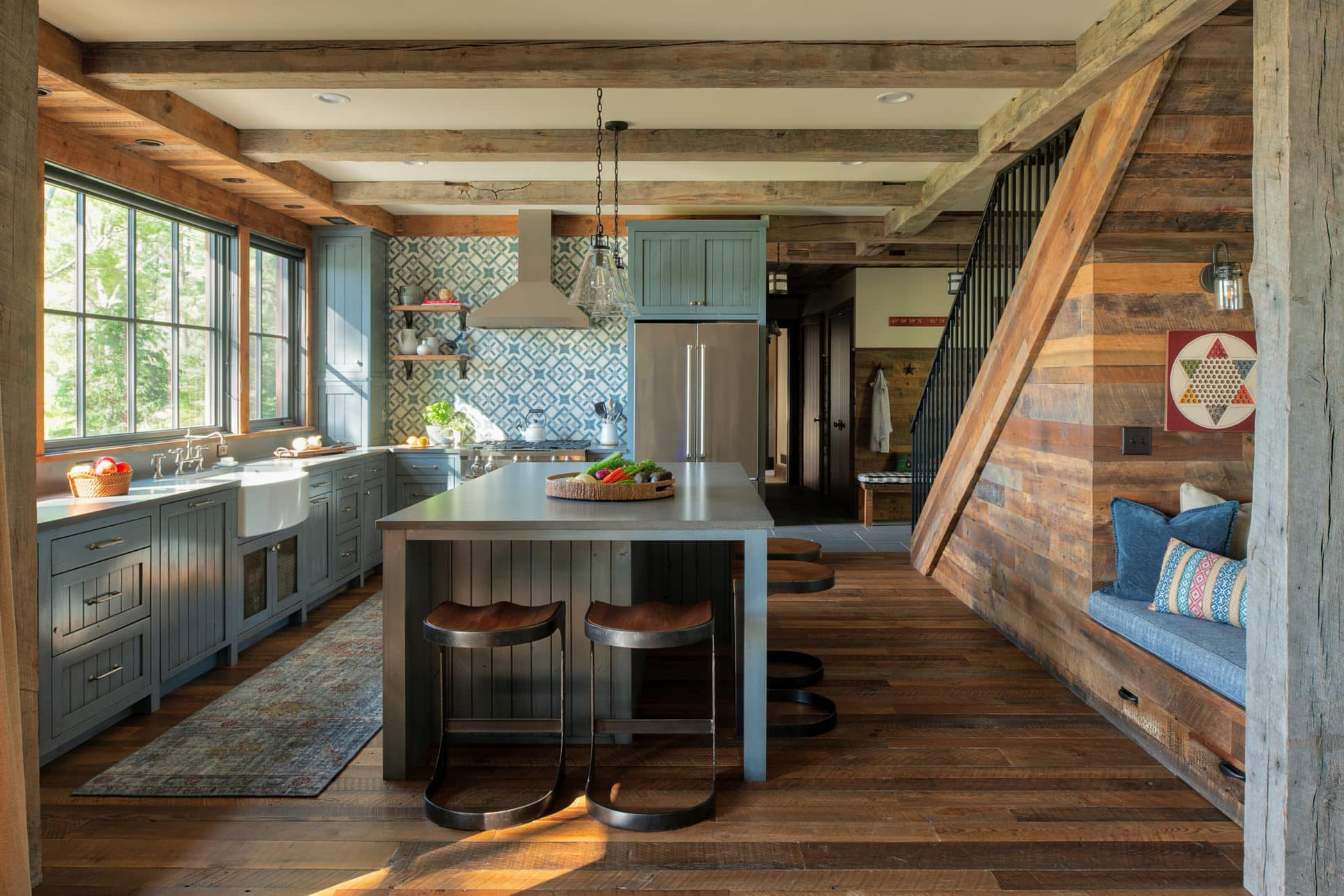 dark antique hardwood flooring by Manomin Resawn Timbers