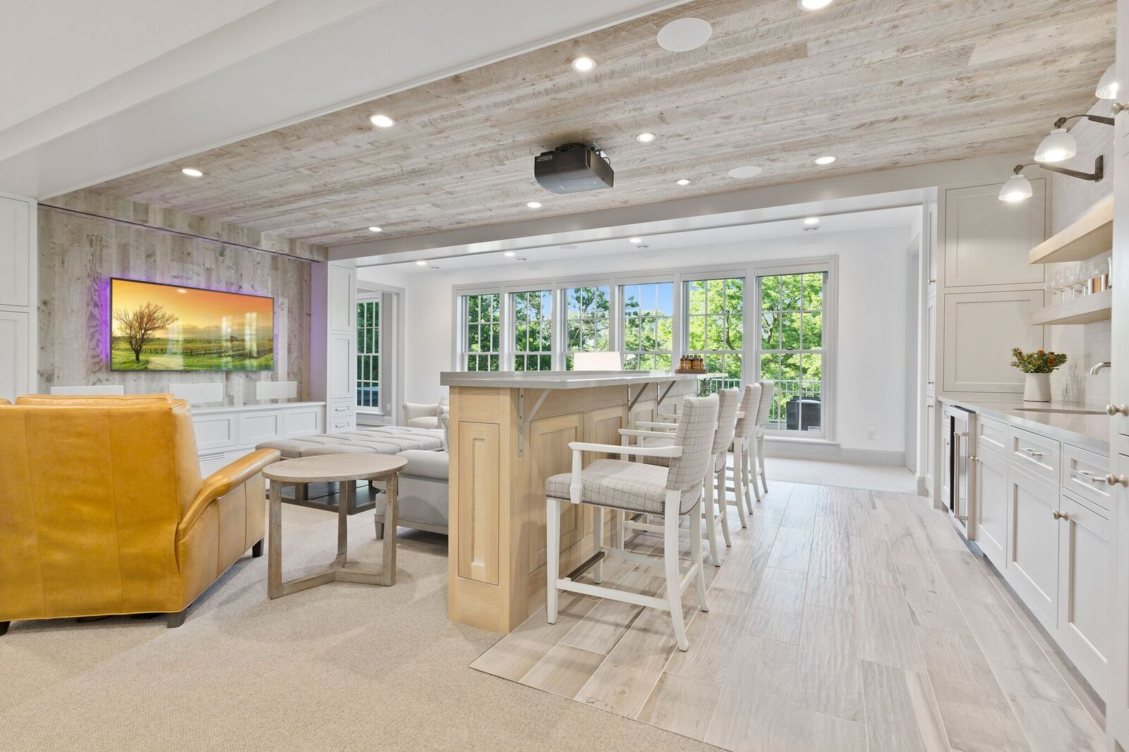 Platinum gray paneling by Manomin Resawn Timbers