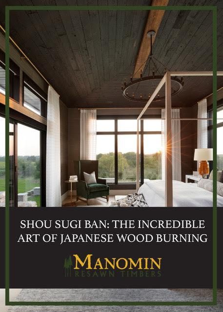 Shou sugi ban ceiling in bedroom