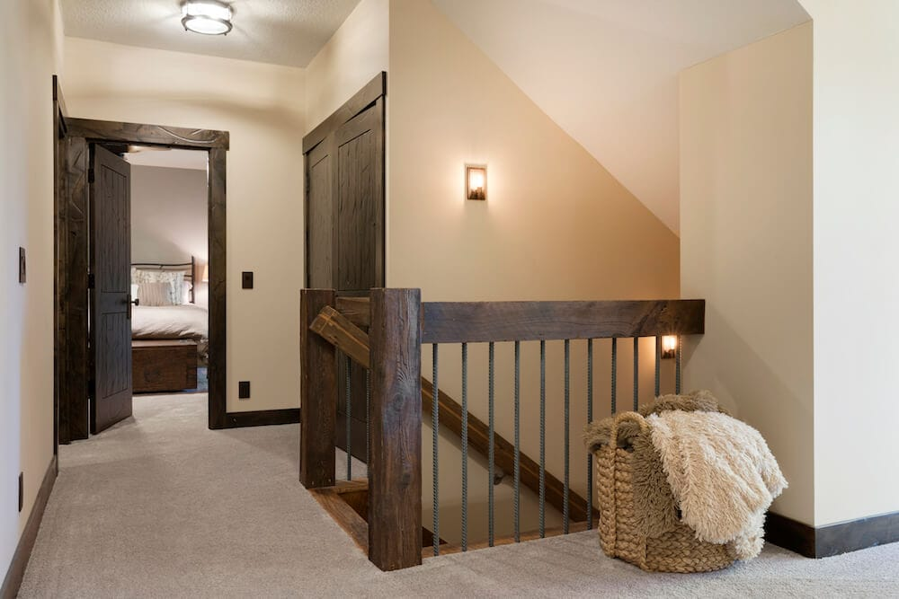 weathered gray staircase