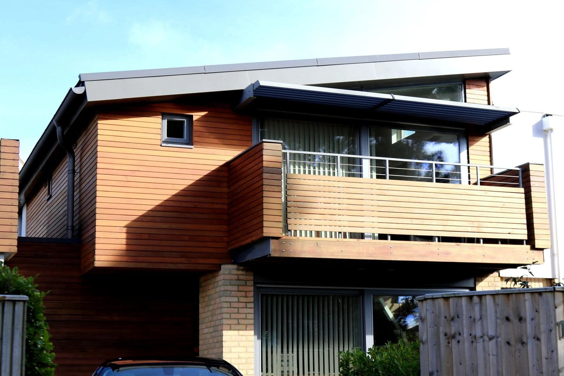 rustic siding on modern home