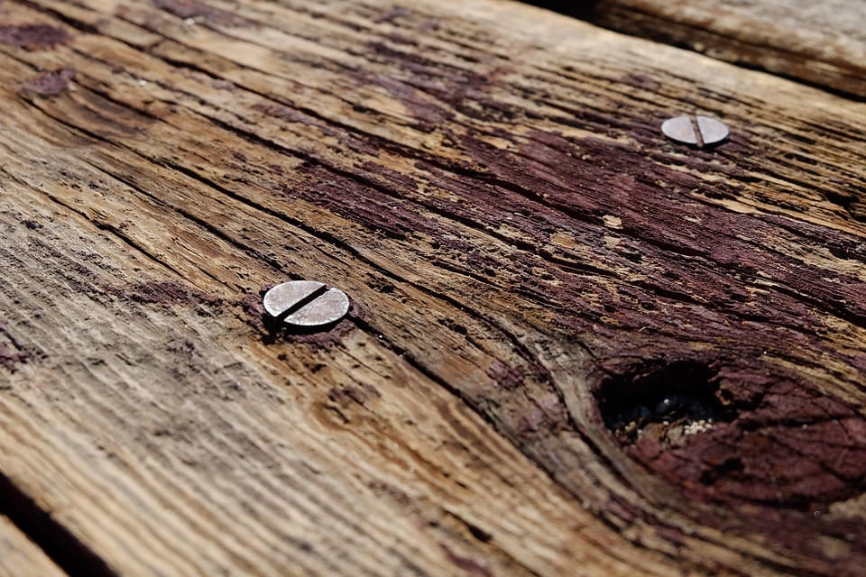 how to finish reclaimed wood screws