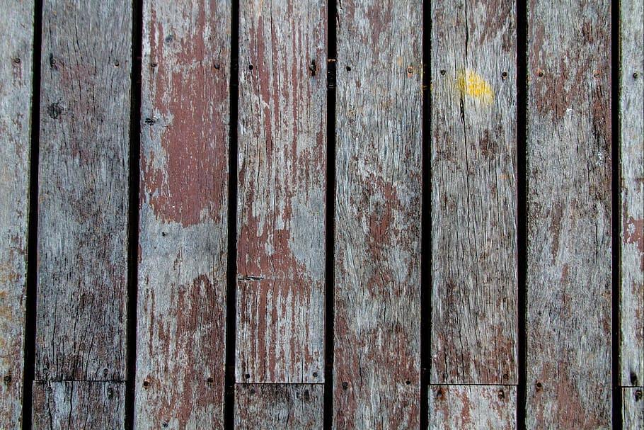 Reclaimed wood planks