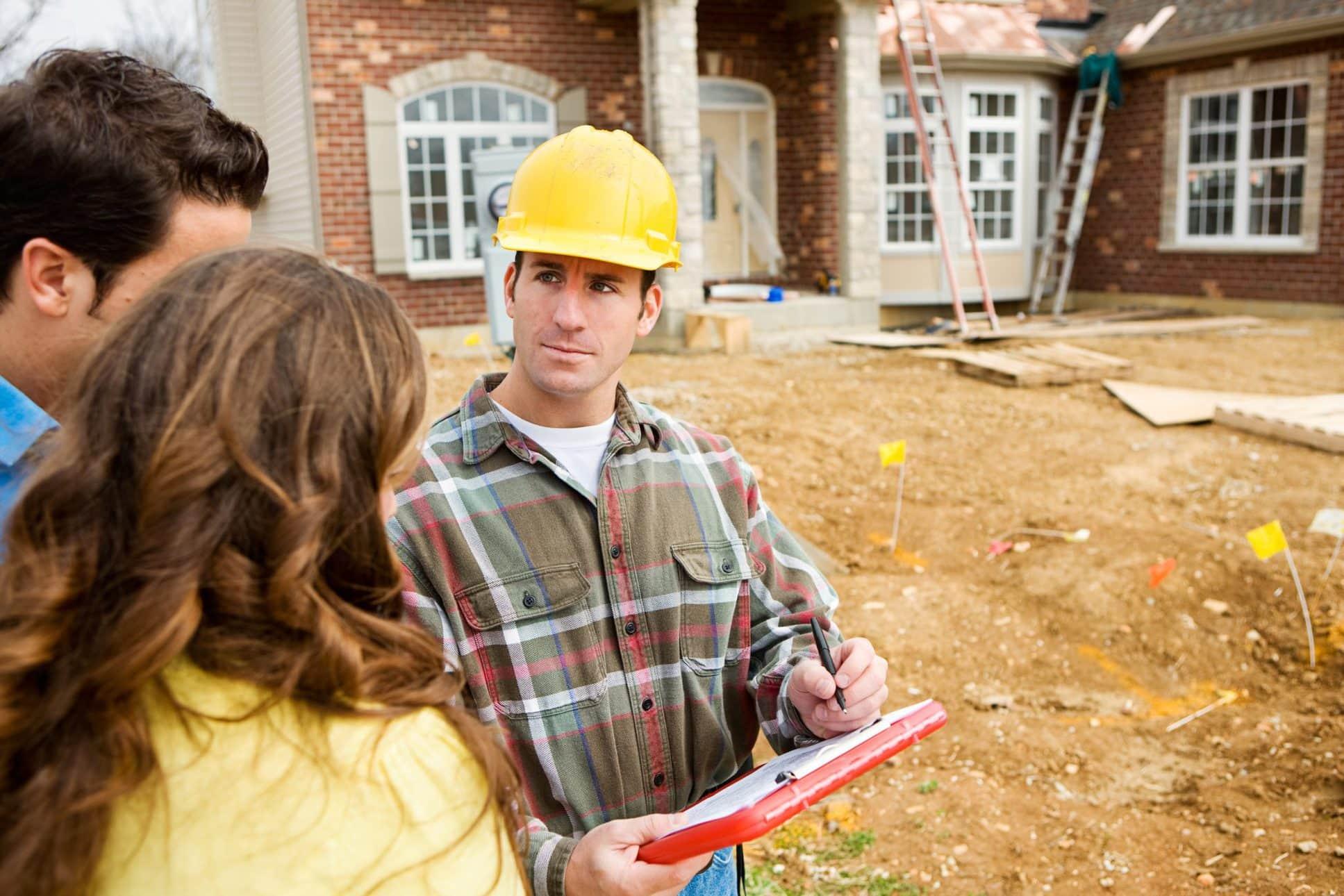 construction site home builder