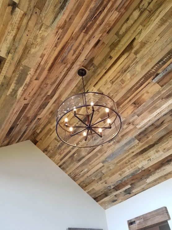 antique oak skip planed ceiling