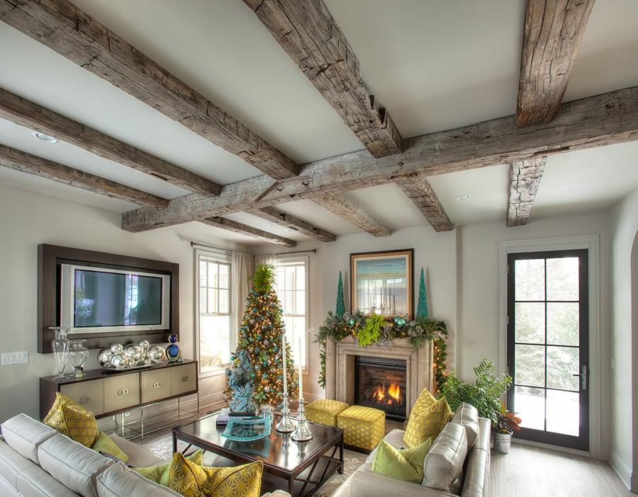 reclaimed ceiling wood beams