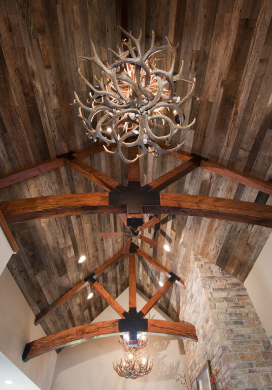 Wood ceiling panels. Reclaimed wood projects