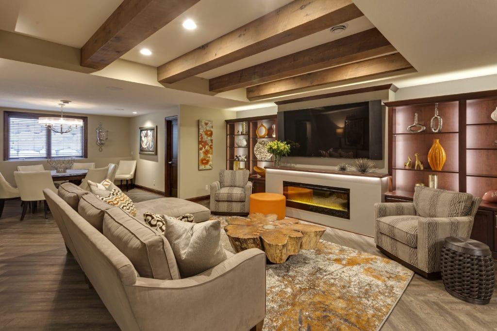 reclaimed wood ceiling beams