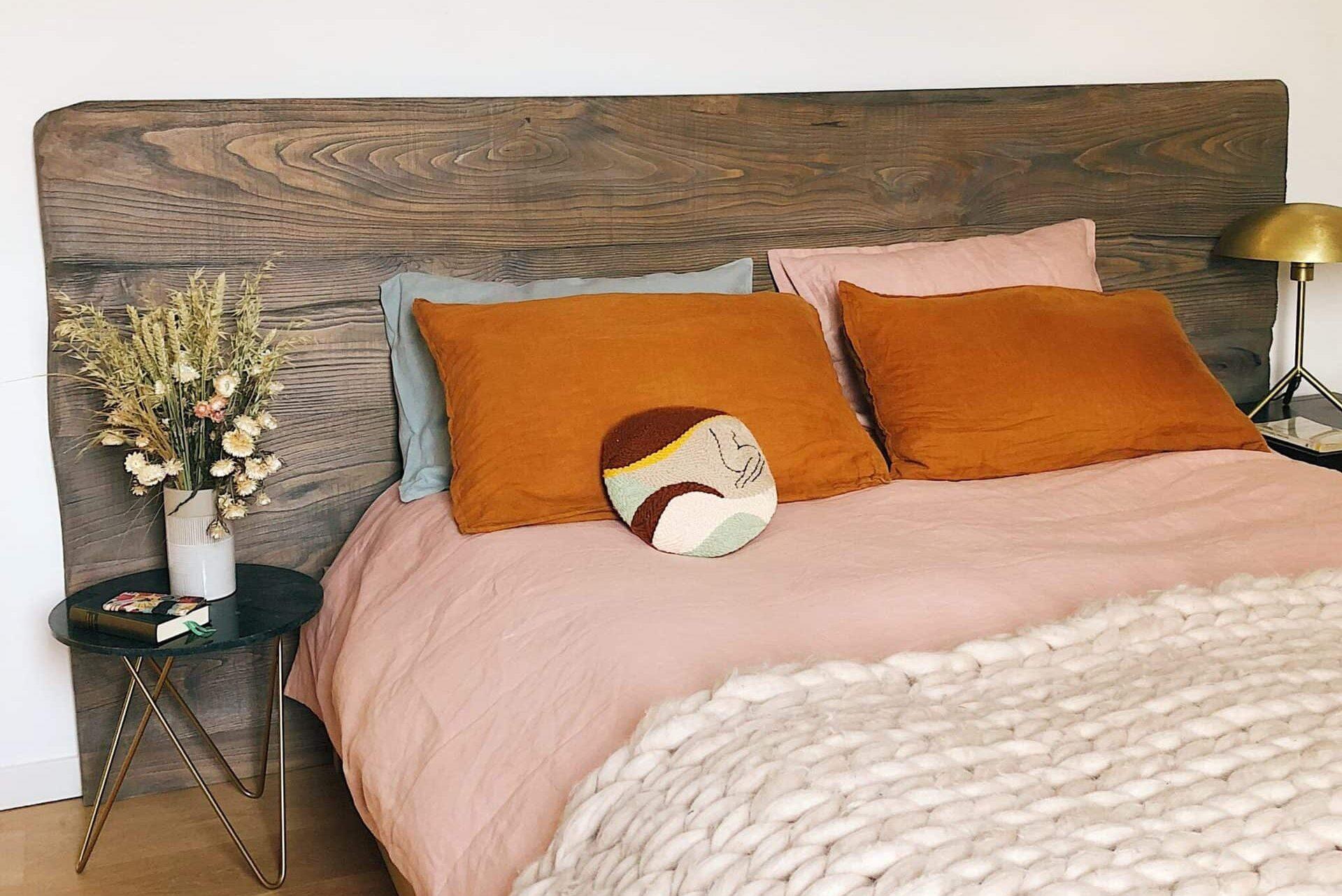 Reclaimed wood bedframe