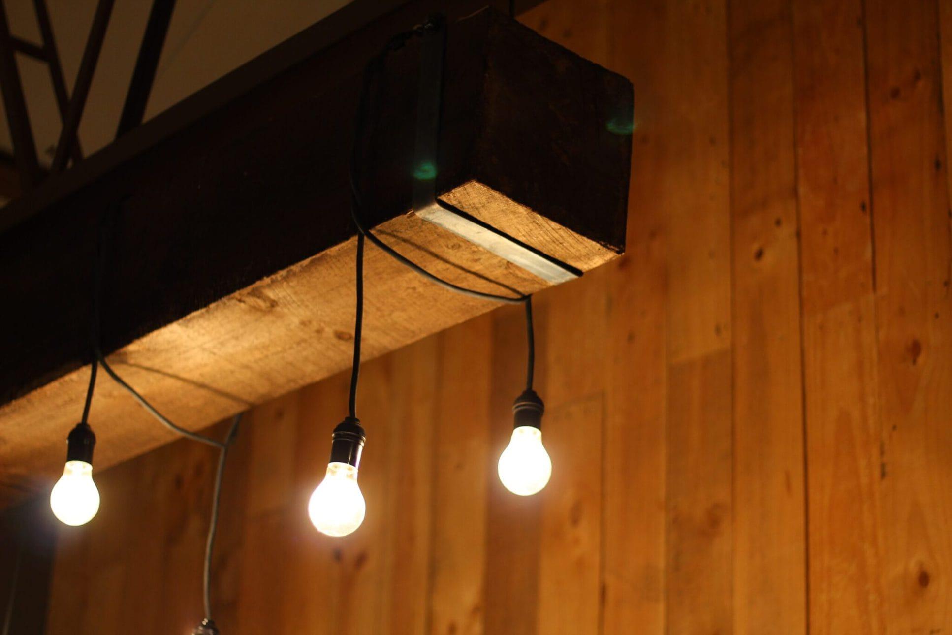 reclaimed wood light fixtures