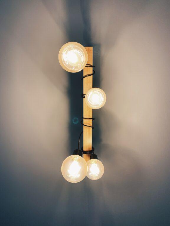 reclaimed wood beam light fixture.