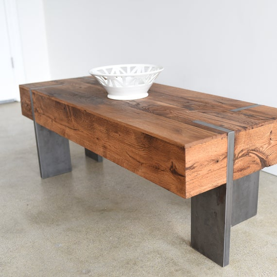 etsy reclaimed wood coffee table