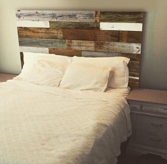 etsy reclaimed wood headboard