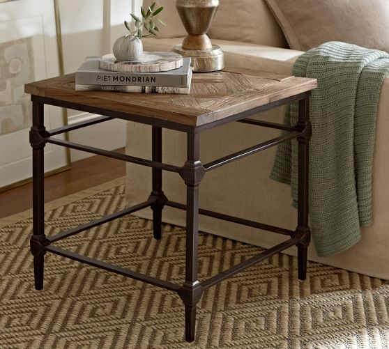 industrial wood end table