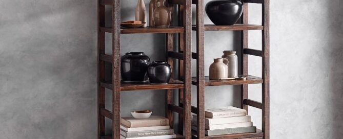 reclaimed wood bookcase
