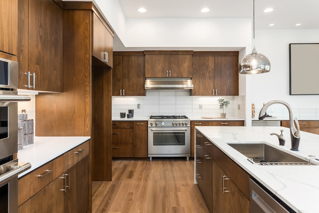 reclaimed wood cabinet kitchen