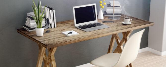 reclaimed wood desks