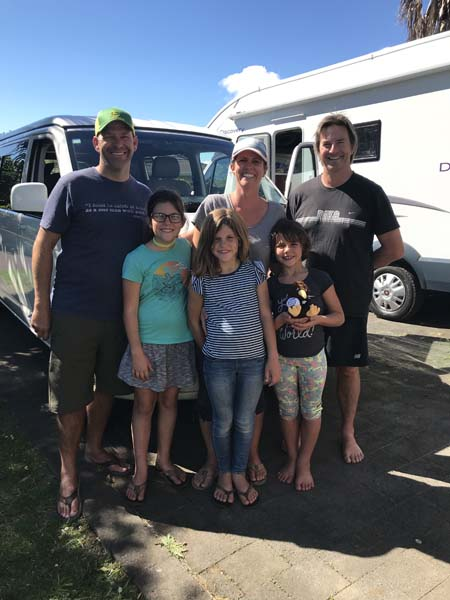 Mitchell - Who we hired (rented) our campervan from. We went from the camper on the right to the van on the left! A bit tighter fit, but a lot easier on the wallet..