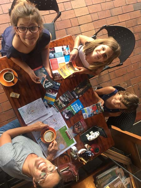 This is how we decide what to do... get all the brochures & then vote! Rotorua!