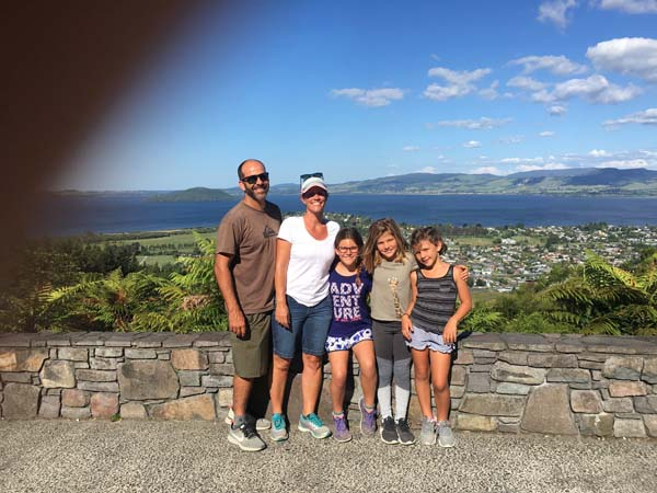 Gorgeous view looking over Rotorua!