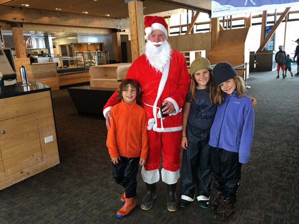 Best Santa EVER!!! Notice the toilet paper over the boot edges!