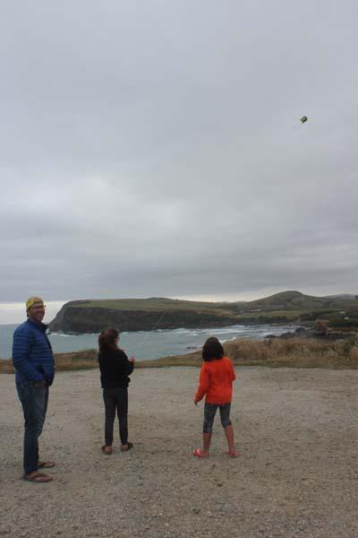 Catlins - kite flying!