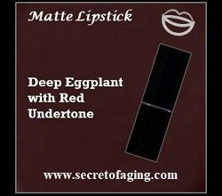 Deep Eggplant with Red Undertone