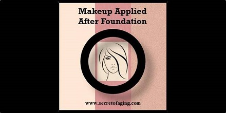 Makeup Applied After Foundation by Secret of Aging