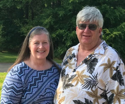 Steve & Dortha outside