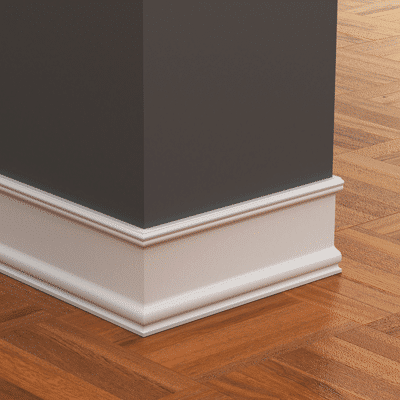 Additional baseboard and trim work