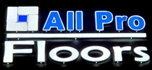 All Pro Floors Night Logo