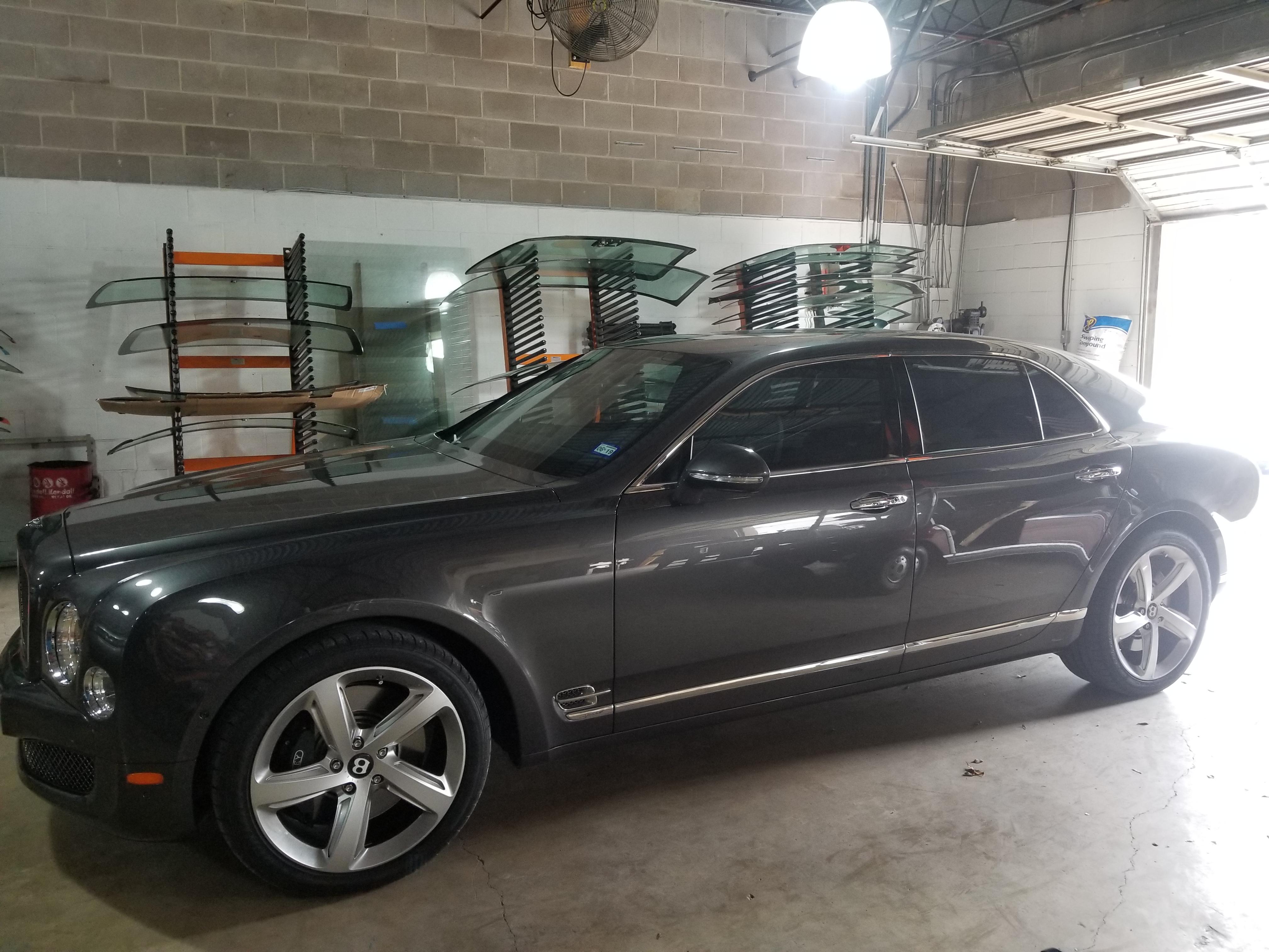 San Antonio Auto Glass Repair Luxury Car Bentley Stone Oak Alamo Heights