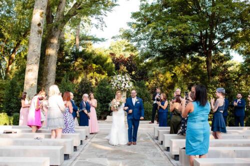 outdoor wedding ceremony Nashville