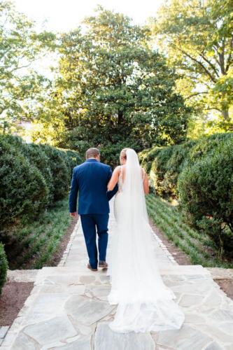 wedding walking down photo