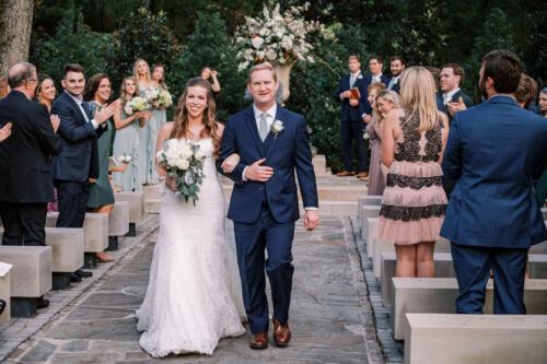 Walking down wedding ceremony Nashville photo