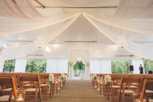 tented wedding ceremony pictures