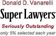 Donald D. Vanarelli was named to the New Jersey Super Lawyers list in years 2007–2020.