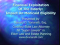 Financial Exploitation of The Elderly: Impact On Medicaid Eligibility PowerPoint Presentation