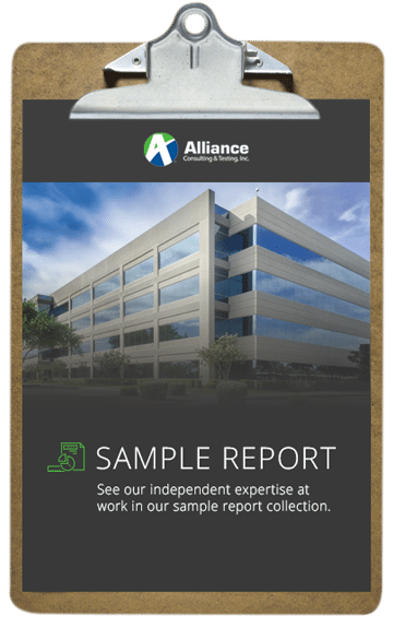 Alliance provide detailed reports after a roof inspection.