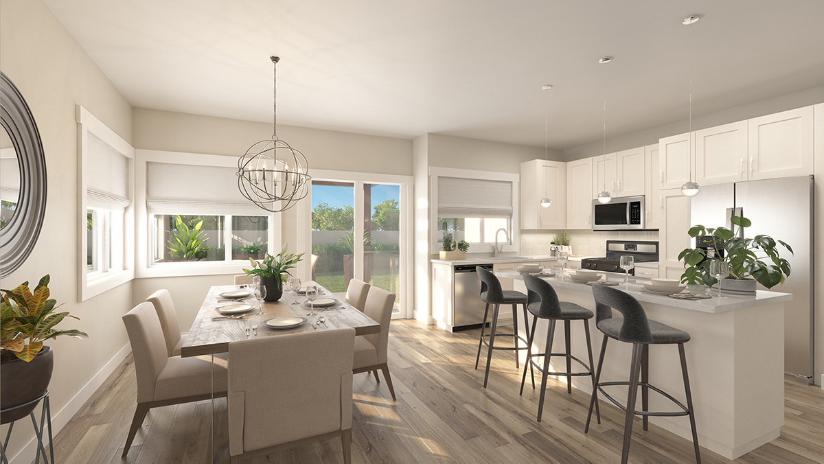 Cannon Trail 3d Rendering - Dining Room