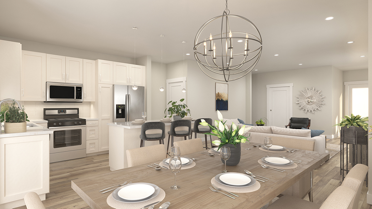Cannon Trail 3d Rendering - Kitchen
